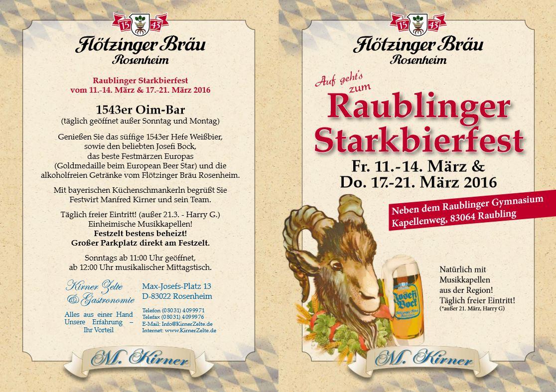 Raublinger Starkbierfest 2016 Programm
